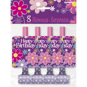 Birthday Blossoms Blowouts, 8 pieces - English Edition