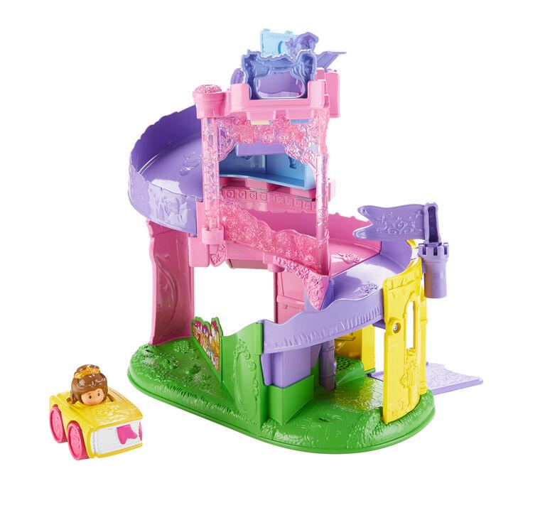 Disney Princess Light & Twist Wheelies Tower by Little People