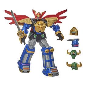 Power Rangers Zeo Megazord, figurine très articulée de 30 cm avec plusieurs casques et accessoires inspirés de la série télé classique - Notre exclusivité