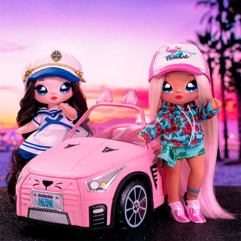 Na Na Na Surprise Soft Plush Convertible, Pink Doll Vehicle, Doll Car, Kitty Car