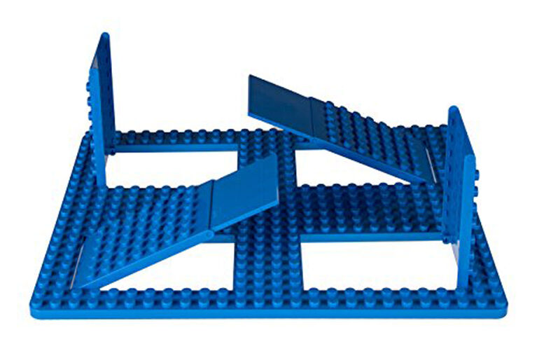 "Strictly Briks - Big Briks - 1 Trap and Gap Baseplate - 1625"" x 1375"" - 26 x 22 Pegs - Blue"