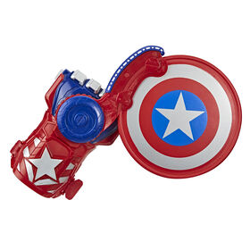 NERF Power Moves Marvel Avengers Captain America Lanceur de bouclier