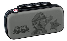 Nintendo Switch - Etched Mario Trave Case - Gris