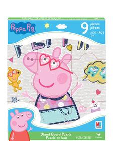 Peppa Pig - Puzzle en bois de 9pièces