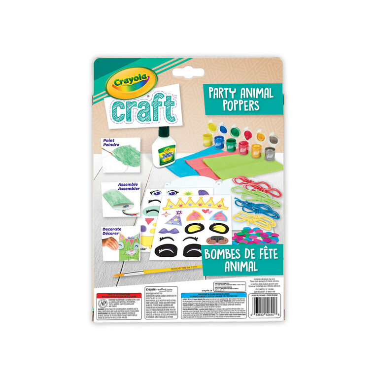 Crayola Craft Party Animal Poppers Kit