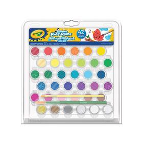 Crayola - Ensemble de 42 peintures lavables pour enfant