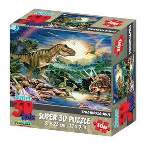 Howard Robinson Tyrannosaurus100 Piece Super 3D Puzzle