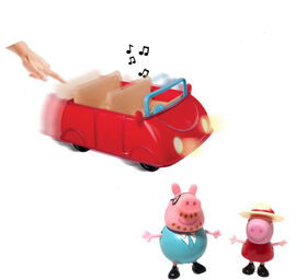 PEPPA PIG - Deluxe Lights & Sounds Family Car