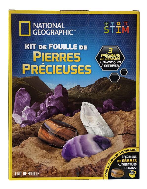 National Geographic - Trousse d'excavation de pierre précieuse