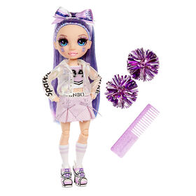 Rainbow High Cheer Violet Willow - Purple Fashion Doll with Pom Poms