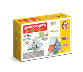 Magformers My First Animal Jumble 40 Pieces Set, Pastel colors