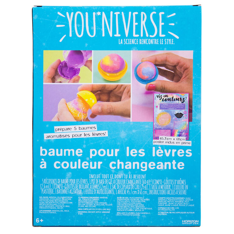 You''Niverse Color Change Lip Balm - English Edition