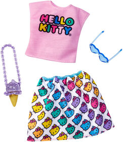 Barbie Hello Kitty Shirt & Skirt Fashion Pack