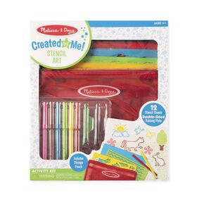 Melissa & Doug Créé par moi! Kit d'activité de coloriage pour pochoir Art dans une pochette de rangement