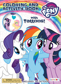 My Little Pony Color And Activity With Tattoos - English Edition