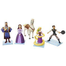 Disney - Tangled The Series Figure Set - Rapunzel, Flynn, Maximus, King, Queen