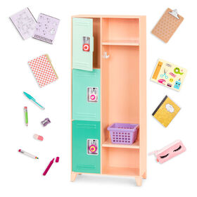 Classroom Cool Locker Set, Our Generation, Ensemble de casier pour poupées de 18 po