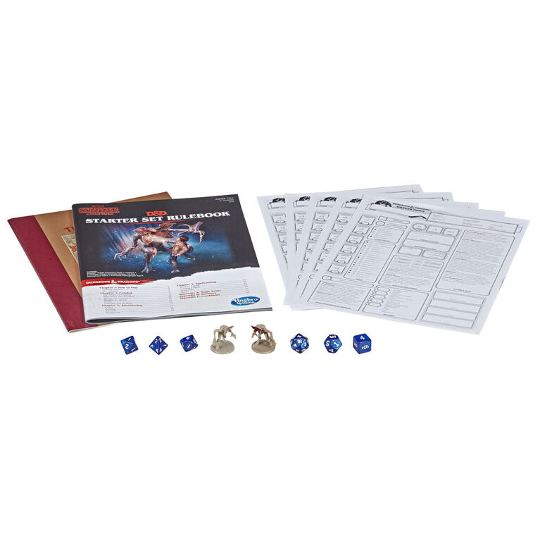 Hasbro Gaming Stranger Things Dungeons & Dragons Starter Set