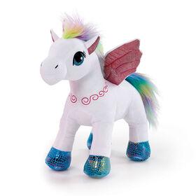 "Snuggle Buddies Sparkle Wings Unicorn 16"" Plush White"