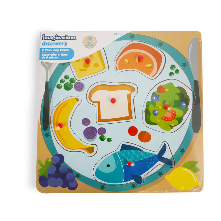 Imaginarium Discovery - 6 Piece Peg Puzzle Assortment - Lunch