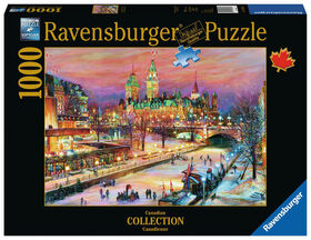 Ravensburger! Ottawa Winterlude Festival Along the Rideau Canal casse tête (1000pc)