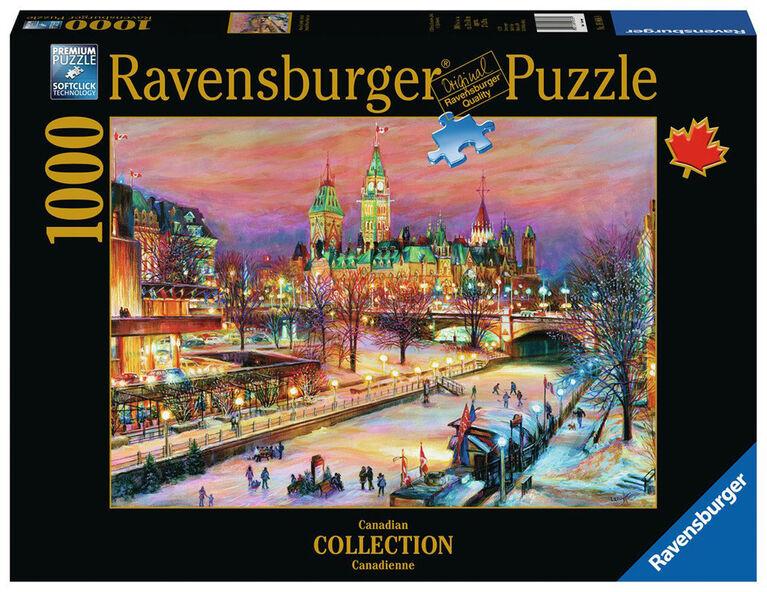 Ravensburger! Ottawa Winterlude Festival Along the Rideau Canal casse tête (1000pc)
