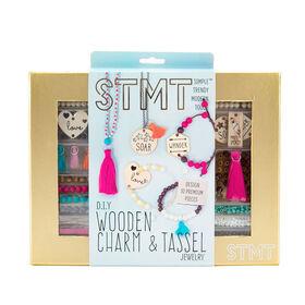 STMT Wooden Charm & Tassel Jewelry