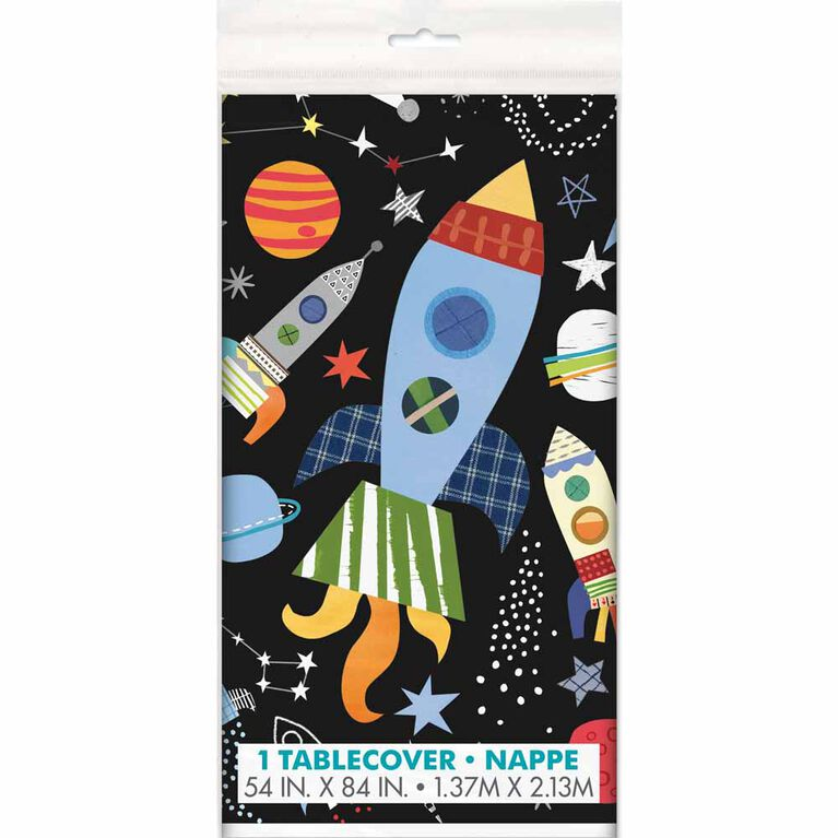 "Outer Space table cover 54""x84"""