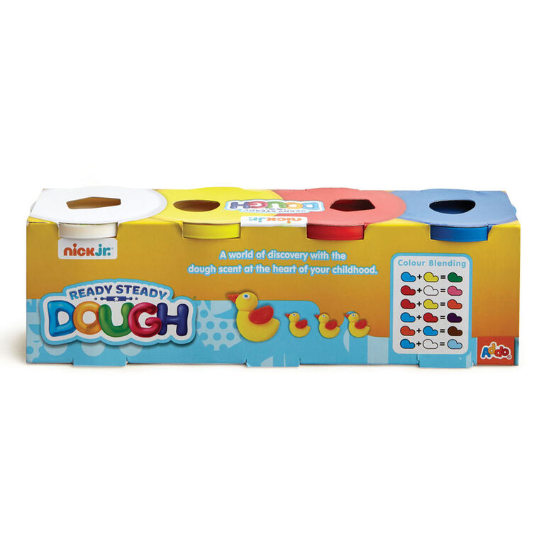 Nick Jr Ready Steady Dough 4 Jumbo Pots Primary Colours - R Exclusive