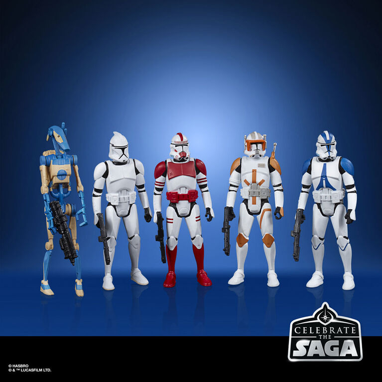 Star Wars Celebrate the Saga Toys Galactic Republic Figure Set, 3.75-Inch-Scale Collectible Action Figure 5-Pack