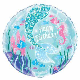 """Ballon aluminium rond, 18 """" - Mermaid - Édition anglaise"""