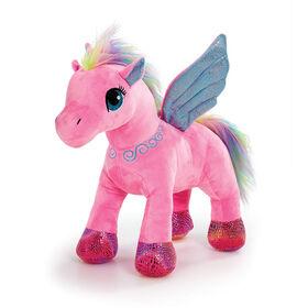 """Snuggle Buddies Sparkle Wings Unicorn 16"""" Plush Pink"""