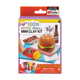 Fashion Angels - 100% Extra Small Burger & Fries Mini Clay Kit - French Edition