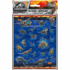 Jurassic World Sticker Sheets, 4 pieces