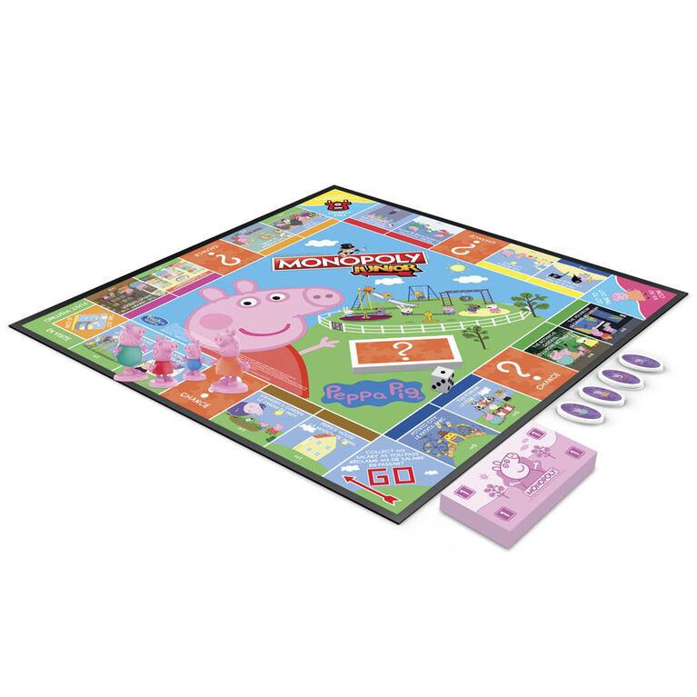 Monopoly Junior: édition Peppa Pig, jeu de plateau pour 2 à 4 joueurs, jeu d'intérieur