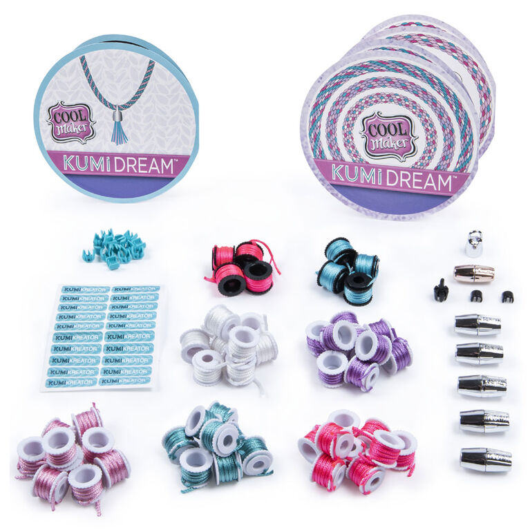 Cool Maker, recharge coffret de mode KumiKreator Dream, kit de bracelets de l'amitié et de colliers
