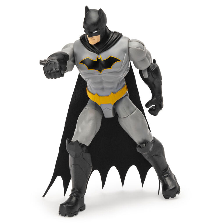 BATMAN, 4-Inch Rebirth BATMAN Action Figure with 3 Mystery Accessories, Mission 2