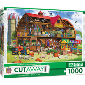 "1000PC EZgrip Cut-Away ""Family Barn"" Large 1000 Piece Jigsaw Puzzle"