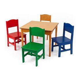 KidKraft Nantucket Table & 4 Primary Chairs