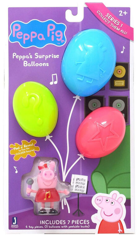 Peppa Pig Surprise Balloons Mystery Pack (Music Theme)