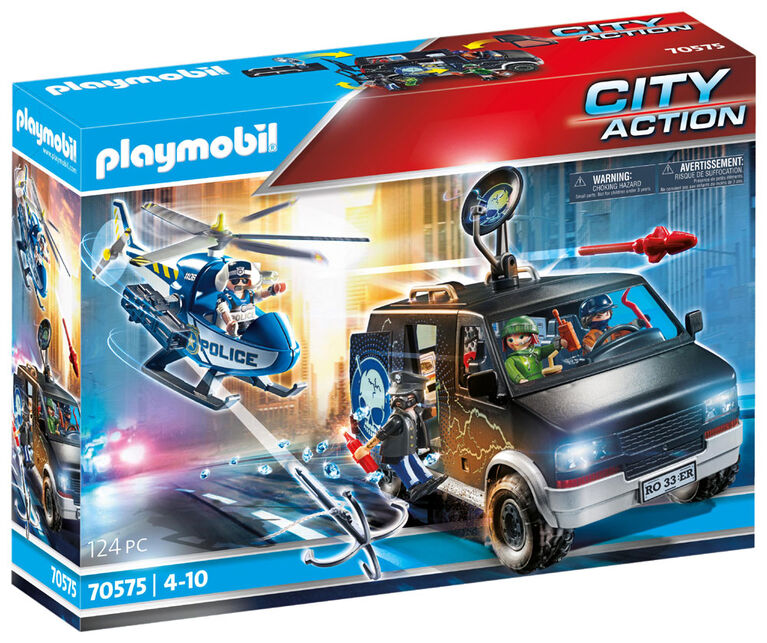 Playmobil - Helicopter Pursuit with Runawa