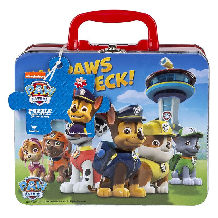 Paw Patrol 24 Piece Jigsaw Puzzle, in Tin Box with Handle