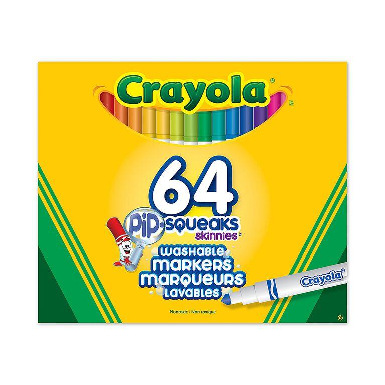 Crayola - Marqueurs lavables Pip-Squeaks Skinnies - ensemble de 64
