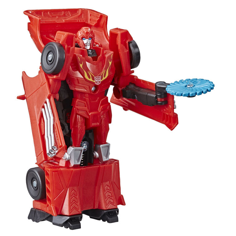 Transformers Toys Cyberverse Action Attackers: 1-Step Changer Autobot Hot Rod - Repeatable Fusion Flame Action Attack Move