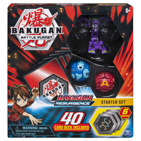 Bakugan, Battle Brawlers Starter Set with Bakugan Transforming Creatures, Darkus Hydranoid