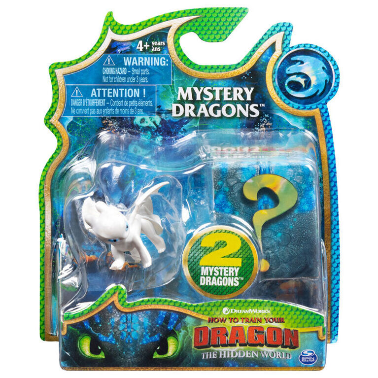 How To Train Your Dragon, coffret de 2 Mystery Dragons Furie Nocturne blanche.