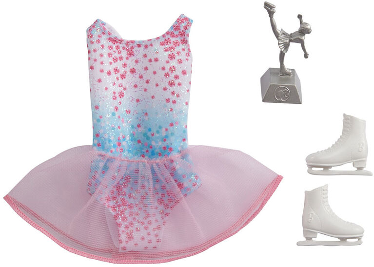 ​Barbie Fashion Pack, Career Ice Skater Doll Clothes for Barbie with 1 Costume, 1 Pair of ice Skates & 1 Trophy
