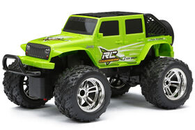 New Bright 1:18  Scale  RC Chargers Jeep WRANGLER  Radio Control Truck - GREEN