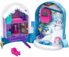 Polly Pocket - Pocket World - Coffret Surprise Enneigée.