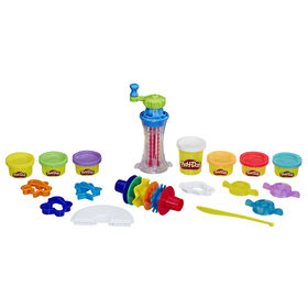 Play-Doh Rainbow Twirl Set with 8 Non-Toxic Cans Featuring 3-in-1 Rainbow Compound - R Exclusive